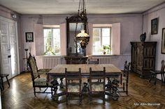 Dworek Jana Matejki - Klub Podróżników Śródziemie European Decor, Lany, Teak, Castle, Dining Table, Manor Houses, Rustic, Furniture, Home Decor