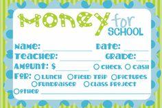 Money For school Label