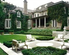 classic house with courtyard garden