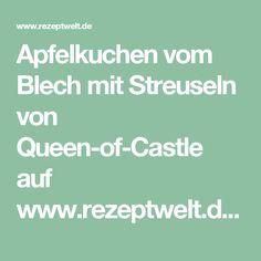 Apfelkuchen vom Blech mit Streuseln von Queen-of-Castle auf www.rezeptwelt.de, der Thermomix ® Community