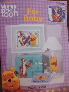 Disney Winnie The Pooh for Baby Plastic Canvas Pattern Cross Stitch Charts Winnie The Pooh Friends, Disney Winnie The Pooh, Disney Cross Stitch Patterns, Cross Stitch Charts, Baby Wipe Holder, Baby Canvas, Nursery Organization, Sewing Patterns For Kids, Needlepoint Patterns
