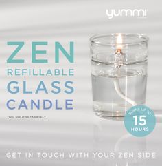 Introducing The NEW Zen Glass Candle! Shop Now at www.YummiCandles.com