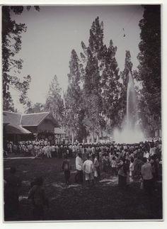 Officiele opening van de waterleiding te Cianjur, Java, Indonesië (1919-1924)