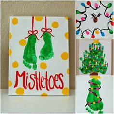 kids craft christmas cards