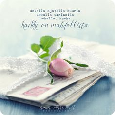 Postikortti Kaikki on mahdollista Mind Power, Enjoy Your Life, Beautiful Mind, Wise Words, Cool Pictures, Poems, Good Things, Messages