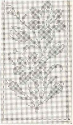 Kira scheme crochet: Scheme crochet no. Cross Stitch Borders, Cross Stitch Flowers, Cross Stitch Designs, Cross Stitching, Cross Stitch Charts, Cross Stitch Patterns, Filet Crochet Charts, Crochet Cross, Thread Crochet