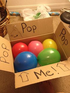 Fun gift wrap for tickets! Basically I just got a cardboard box and balloons from Dollar Tree in which I filled the balloons with confetti (before blowing them up!). I placed the tickets I got for my bf's bday in the bottom of the box so he would have to pop the balloons using a needle i attached in the box flap. It was a fun and creative way to unwrap tickets as a present!