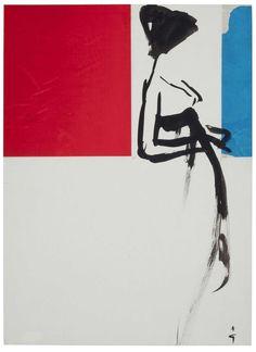 Illustration by René Gruau, 1958, 'Female Silhouette'.