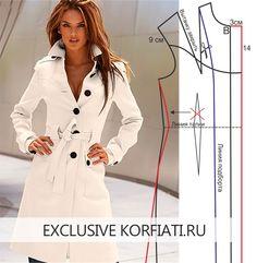 Это шикарное пальто приятно иметь в своем гардеробе! Возьмите дорогую ткань, а пошить это пальто самостоятельно мы вам поможем. Выкройка пальто со шлицей