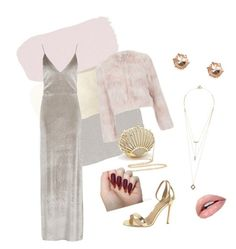 """Velvet as hell 🍸"" by queenanood ❤ liked on Polyvore featuring J/Slides, Boohoo, RED Valentino and Noir Jewelry"