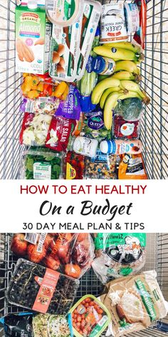 Grocery List Ideas for Eating Healthy on a Budget - Momma Fit Lyndsey - Clean Eating Recipes Monthly Meal Planning, Budget Meal Planning, Budget Meals, College Meal Planning, College Cooking, Groceries Budget, Family Meal Planning, Family Meals, Healthy Recipes On A Budget