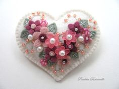 Felt Heart Pin by Beedeebabee on Etsy