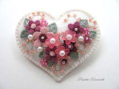 Felt Heart Pin by Beedeebabee on Etsy, $19.00