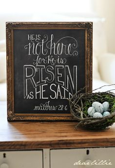 He is not here, for He is risen as He said. Matthew 28:6