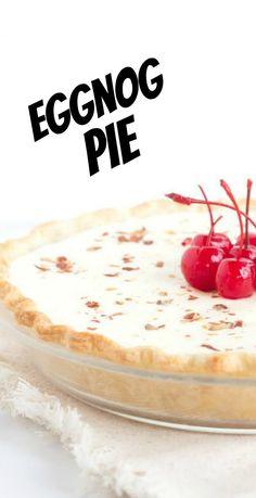 Eggnog Pie recipe from RecipeGirl.com #eggnog #pie #recipe #RecipeGirl