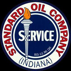 Vintage porcelain Standard oil co. Advertising Signs, Vintage Advertisements, Standard Oil, Porcelain Signs, Garage Art, Gas Pumps, Vintage Signs, Indiana, Decor