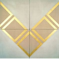 Patrick Scott, 1921 - 2014 Gold Painting 34, 1965 Gold leaf and tempera on canvas 246 x 246 cm Heritage Gift by Bank of Ireland | 1999 IMMA.1276