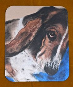 Onslow Basset Hound Art Mouse Pad by Cori Solomon by terikor