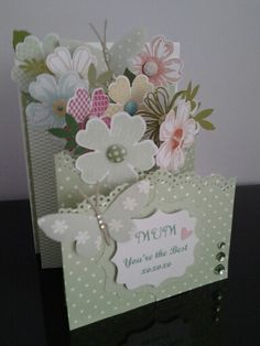 Mother's day cascading card - SU Flower Shop