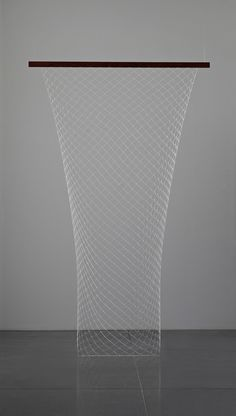 """Carol Bove """"Netting"""" 2009 Wood and silver chain"""
