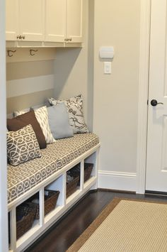 Our Mudroom Gets an Update (Envelope Pillows)