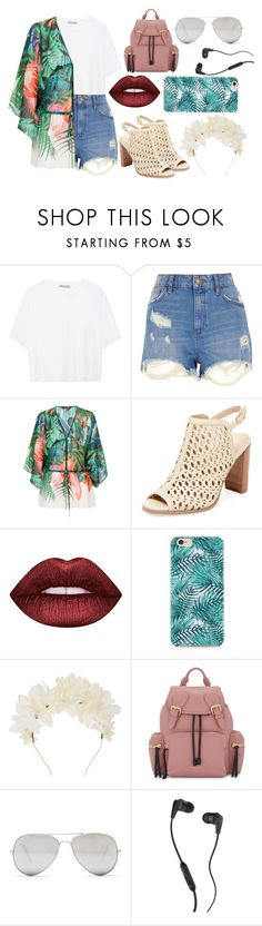 """//💙RoadTrip💙//"" by zylahrys ❤ liked on Polyvore featuring Vince, River Island, Roberto Cavalli, Renvy, Lime Crime, Lizzie Fortunato, Burberry, Sunny Rebel, Skullcandy and roadtrip"