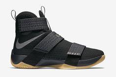 "Nike Zoom LeBron Soldier 10 SFG ""Black, Metallic Dark Grey & Gum Yellow "" - EU Kicks: Sneaker Magazine"