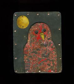 """Judith Hoyt: Brooch in found metals, copper, and stainless steel. 2.5 x 2"""""""