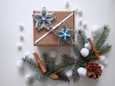 Christmas decoration, paper stars, Quilled PaperDecor,Snowflake Decorations,Christmas Ornament,Winter Decor, Gift by Filigranki on Etsy