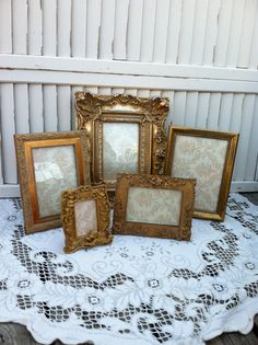 Your place to buy and sell all things handmade Gold Picture Frames, Cherubs, Picture Sizes, Easel, Girl Room, Entrance, I Shop, Shabby Chic, Victorian