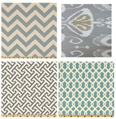 I could base an entire room off of these! LOVE the patterns!