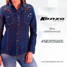 Crea tu #look denim sobre denim, solo mezcla la tonalidad de tus prendas y crea un #outfit #KenzoJeans Conoce más en www.kenzojeans.com.co
