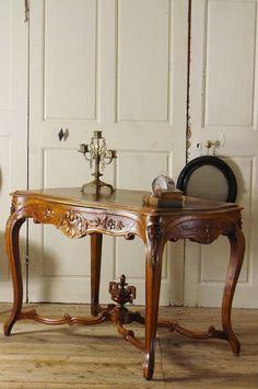 """アンティーク ウッドコンソールテーブル(ルイ15世様式)  French Antique Console Table """" Table à gibier"""""""