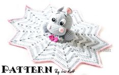 Ravelry: Happy Hippo the Hippopotamus Snuggle Buddy Lovey Blankey, Crochet Pattern in PDF pattern by Ira Rott.