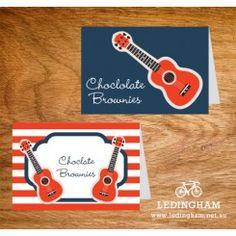 Rock Guitar Party Buffet Labels or Name Cards (DIY Printables) http://ledingham.net.au/shop/rock-guitar-party-buffet-labels-or-name-cards-diy-printables.html