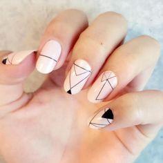 GEOMETRIC NAIL ART IDEAS nails alchemy claws geometric nails creepy vibes nails designs Halloween nails nails art geometric aesthetic black everything Halloween geometric nails Nail Art Designs, Simple Nail Designs, Minimalist Nails, Halloween Nail Designs, Halloween Nails, Classy Nails, Cute Nails, Triangle Nails, Nailart