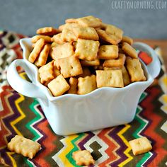 Here you will find my homemade cheez-it recipe for a kids snack!