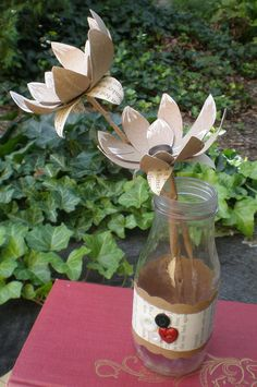 Design by Night: Paper Towel Roll Flowers—Tutorial