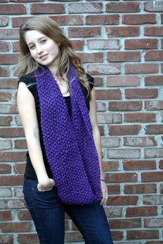 """""""Plum In Luck"""" Knit Scarf"""