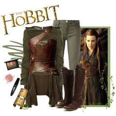 Tauriel by lizzieroo on Polyvore featuring art, hobbit, TheHobbit, tauriel and thedesolationofsmaug