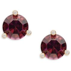 Kate Spade New York Rise and Shine Cubic Zirconia Stud Earrings (485 ZAR) ❤ liked on Polyvore featuring jewelry, earrings, purple, cz stud earrings, kate spade earrings, cz jewellery, cubic zirconia earrings and 14k cubic zirconia earrings