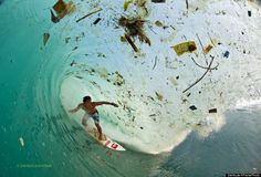 Photographer Captures Waves of Trash in Indonesia.. Waves for days. Trash for…