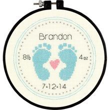 Dimensions® Counted Cross Stitch Kit, Baby Footprints