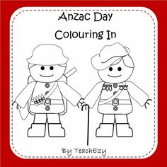 Anzac Day Colouring Pages- a collection of colouring pages to commemorate Anzac Day. Great for early learners. www.teachezy.com