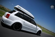Avant with rocket box Audi Allroad, Audi Rs4, Audi Wagon, Roof Box, A4 Avant, Passat B5, Car Tuning, Modified Cars, Station Wagon