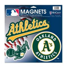 MLB Oakland Athletic A's Vinyl Magnets