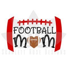 Football Mom SVG, Biggest Fan Football Mom cut file