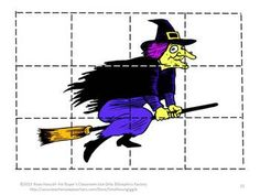 Puzzles are not only fun for children they have a lot of benefits. Some of those benefits are developing problem solving skills, fine motor skills, and hand eye coordination. Students will enjoy these 16 Halloween inspired puzzles.   Students cut out puzzle pieces and then paste onto the corresponding page.  Or, if you prefer, laminate them and use them as a regular puzzle that can be worked again and again.