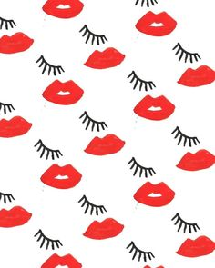 Lips and lashes pattern