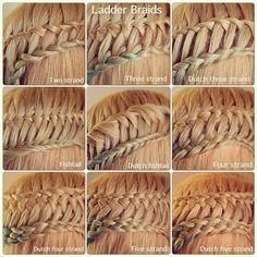 Different Types of Ladder Braids by Abella's Braids